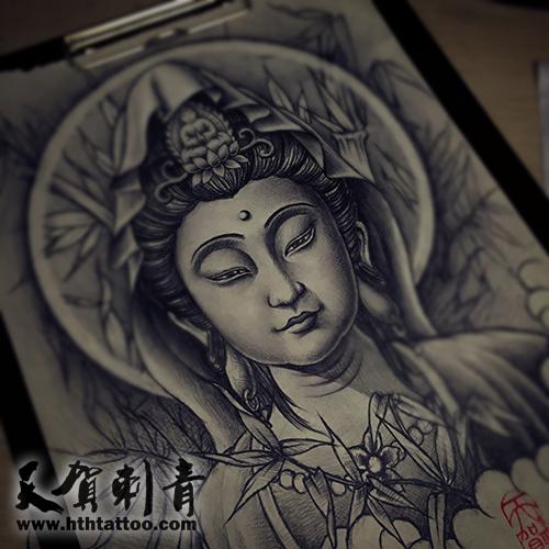 观世音菩萨手稿,天贺刺青 - 北京纹身|北京纹身店||最